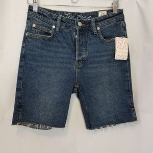 NWT Free People Avery Bermuda Shorts Cadet Blue